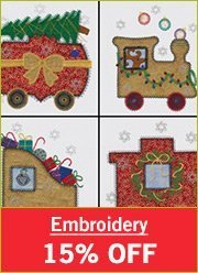 Embroidery 15% Off