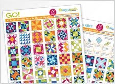 GO! Mix and Match Block Patterns Reference Chart