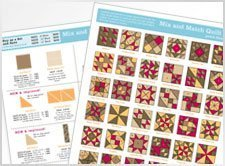 Studio Mix and Match Block Patterns Reference Chart