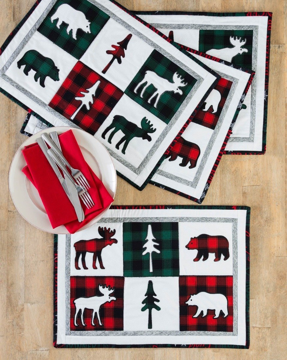 AccuQuilt GO! FREE Northwoods Medley Holiday Placemats Pattern
