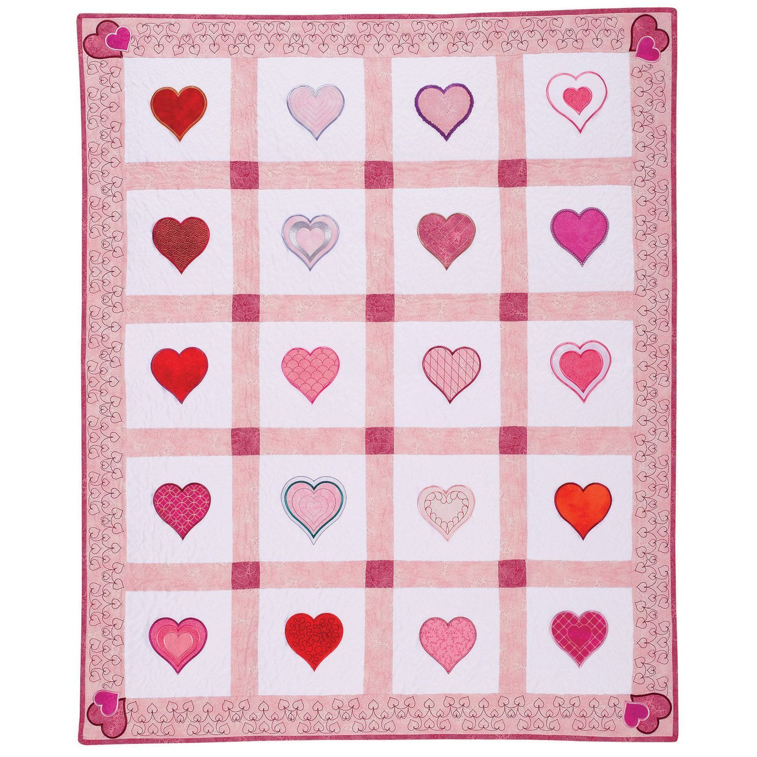 FREE Download GO! Heart to Heart Quilt Pattern