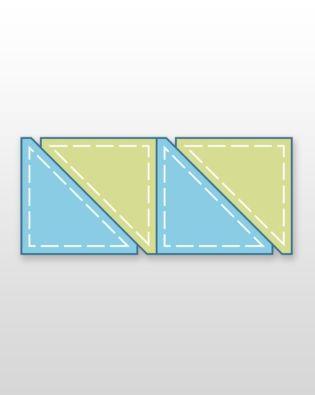 "Studio Half Square-4 1/2"" Finished Triangle"