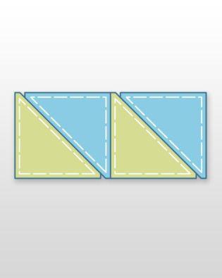 "Studio Half Square-6"" Finished Triangle (Quilt Block C) Multiples"