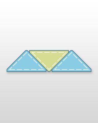 "Studio Quarter Square-6"" Finished Triangle (Quilt Block D) Multiples"