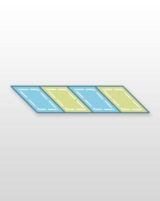 "Studio Parallelogram 45-3 11/16"" x 4 15/16"" Sides (3"" x 4 1/4"") (Quilt Block G) Multiples"