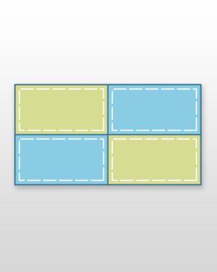 """Studio Rectangle-(4) 6 1/2"""" x 3 1/2"""" (Quilt Block H)"""