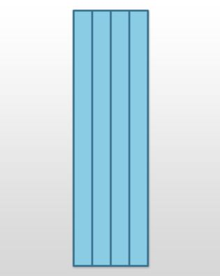 "Studio Super Giant Strip Cutter-3"" (2 1/2"" Finished) 4 Strips"
