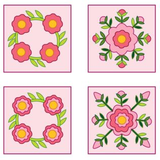 Studio Rose Sampler Quilt Pattern