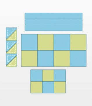 Quilter's Basic Die Bundle Plus Tray and Mat (50285)