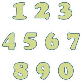 "Studio Carefree 4"" Numbers"