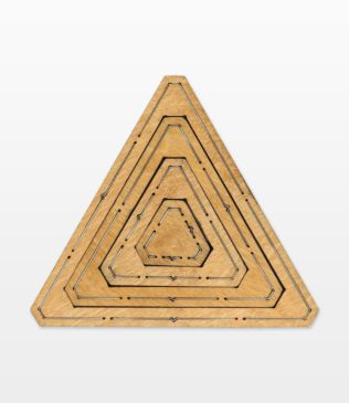 "Bullseye Equilateral Triangles-Odd-1"", 3"", 5"", 7"" Finished Sides for Studio (50364)"