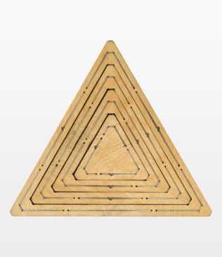 "Bullseye Equilateral Triangles-Even-2"", 4"", 6"", 8"" Finished Sides for Studio (50368)"