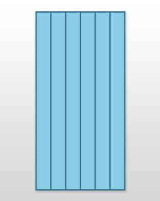 "Studio Super Giant Strip Cutter-2"" (1 1/2"" Finished) 6 Strips"
