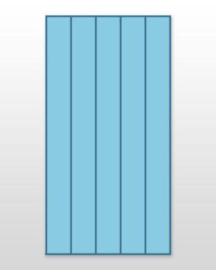 "Studio Super Giant Strip Cutter-2 1/2"" (2"" Finished) 5 Strips"