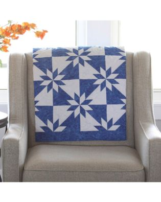 Studio Electric Blue Hunter Star Quilt Pattern