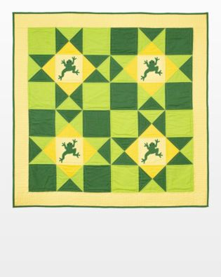 "GO! Qube 12"" Leaping for Joy Throw Quilt Pattern"