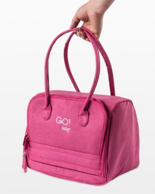GO! Baby Fabric Cutter Tote (55301) - Shown with GO! Baby Fabric Cutter and notions (not included with Tote)