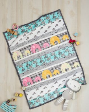 GO! Elephant Cuddles Throw Quilt Pattern