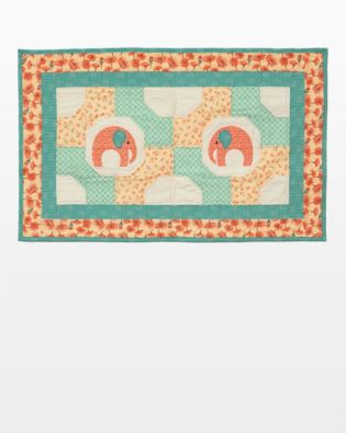 GO! Elephants & Bowties Table Topper Pattern