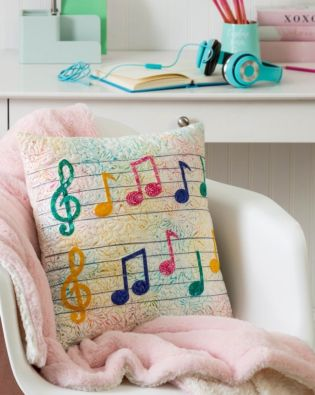 GO! Musical Notes Pillow Pattern