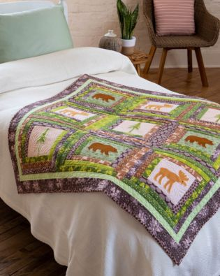 GO! Log Cabin in the Woods Quilt Pattern