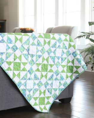 "GO! Qube 10"" Diamond Star Throw Quilt Pattern"