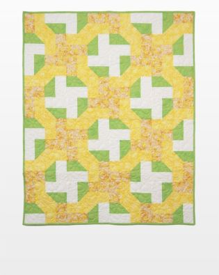 "GO! Qube 10"" Cutting Edge Throw Quilt Pattern"