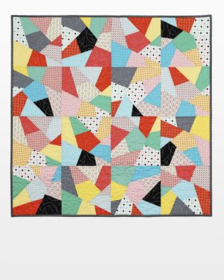 GO! Let's Go Crazy Throw Quilt Pattern