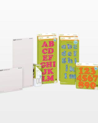 GO! Carefree Alphabet & Numbers Die Bundle