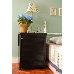 Arrow Sewnatra (Black) Sewing Cabinet - shown open while using.
