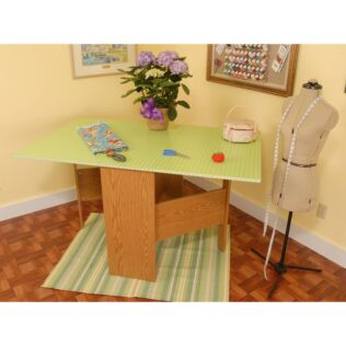 Arrow Pixie (Pistachio) Sewing Cabinet - shown open for use.