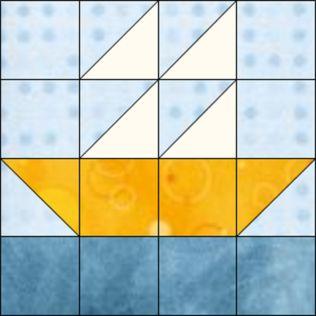 """GO! Boat 8"""" Block Pattern"""