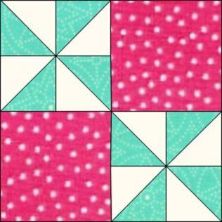 "GO! Flashing Windmills 9"" Block Pattern (PQ10611)"