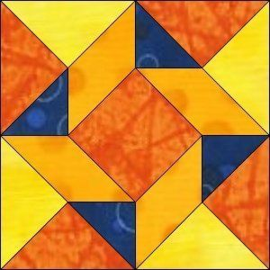 """GO! Flying Triangles 8"""" Block Pattern"""