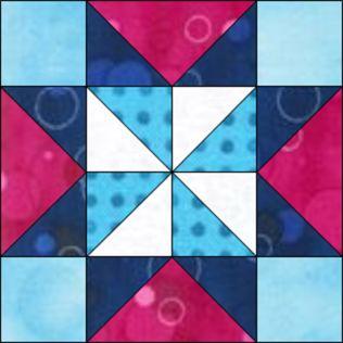 """GO! Qube Pinwheel Star 6"""" Block Pattern (PQ10640Q)"""