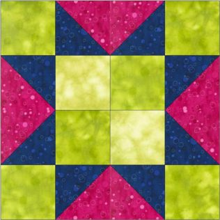 "GO! 4-Patch Star 9"" Block Pattern (PQ10546)"