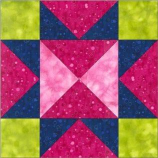 "GO! Hourglass Star No. 2 8"" Block Pattern"