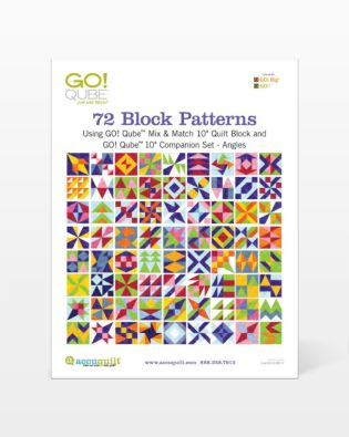 "GO! Qube 10"" Companion Set Angles-72 Block Patterns Booklet"