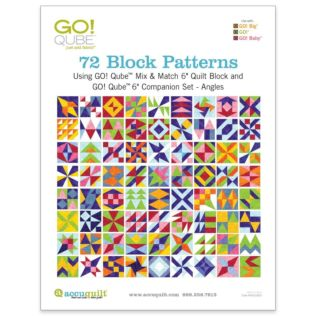 "GO! Qube 6"" Companion Set Angles-72 Block Patterns Booklet"