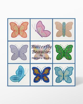 GO! Butterfly Beauties Embroidery Designs by Marjorie Busby (BQ-BBe)