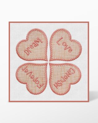 GO! Candy Hearts Machine Embroidery Set by Marjorie Busby (BQ-CHe)