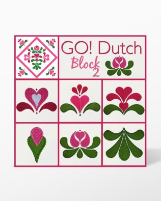 GO! Dutch Block 2 Machine Embroidery Set by Marjorie Busby (BQ-DBe)