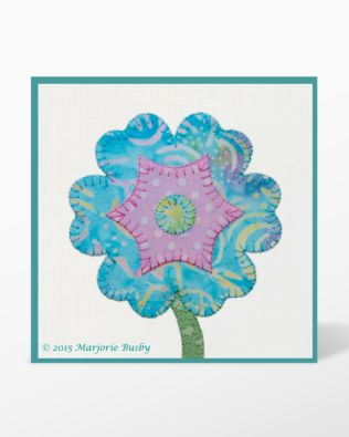 GO! Flower Bunch, Round Flower and Stems & Leaves Machine Embroidery Set by Marjorie Busby (BQ-FBe)