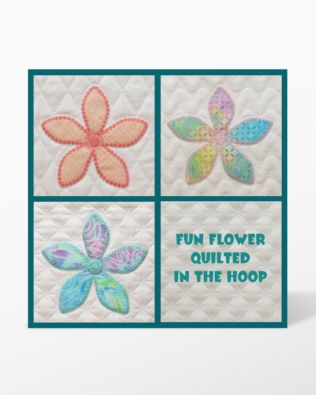 GO! Fun Flower Quilted in the Hoop Embroidery Designs by Marjorie Busby (BQ-FFQe)