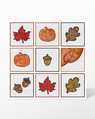 All shapes - GO! Fall Medley Embroidery Designs by Marjorie Busby