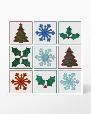 All Shapes - GO! Holiday Medley Embroidery Designs by Marjorie Busby