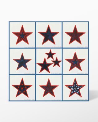 GO! Patriotic Stars Machine Embroidery Set by Marjorie Busby (BQ-PATe)