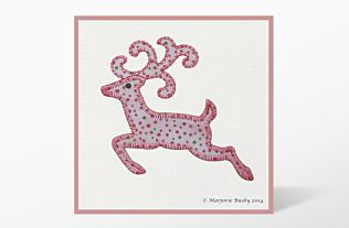 GO! Reindeer with Antlers Embroidery Designs by Marjorie Busby (BQ-Re)