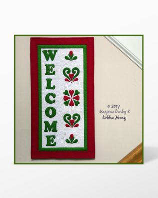 GO! Welcome Wall Hanging Machine Embroidery Set by Marjorie Busby and Debbie Henry (BQ-WWe)