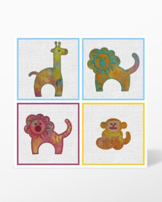 All shapes from GO! Zoo Animals Embroidery Designs by Marjorie Busby